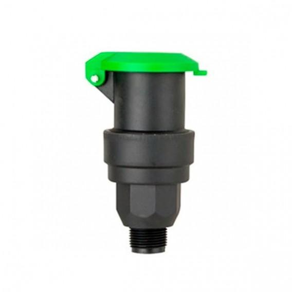 Válvula hidrante de acople rápido en plástico