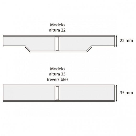 Módulo rejilla transversal blanco para curvas AstralPool