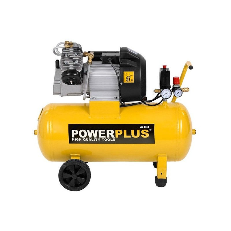 compresor 50 litros 2200w powerplus powx1770 poolaria