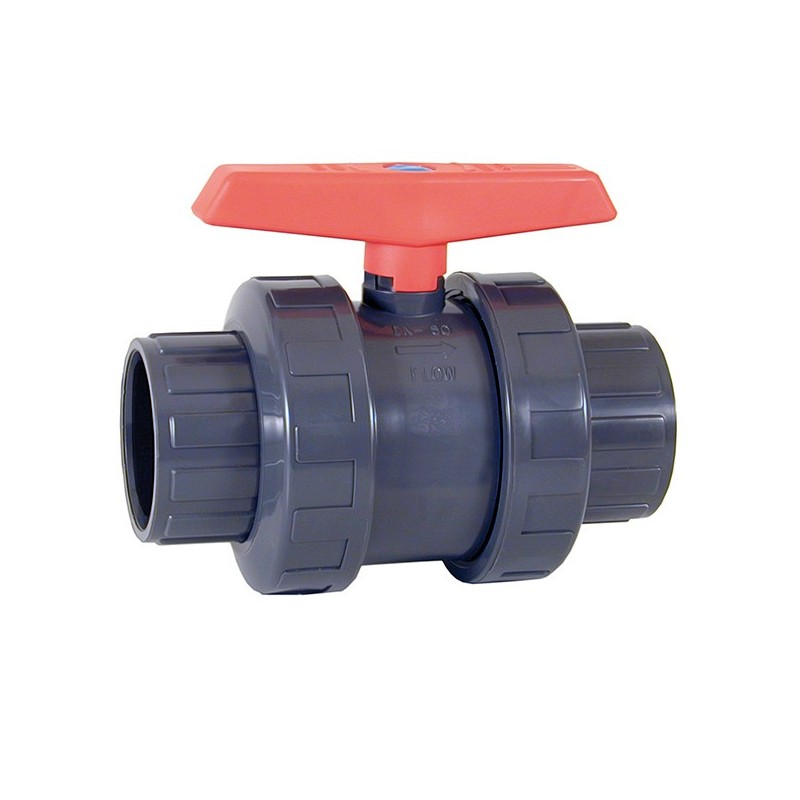 V lvula de bola pvc pn10 cepex encolar poolaria for Llave tubo para valvula de ducha