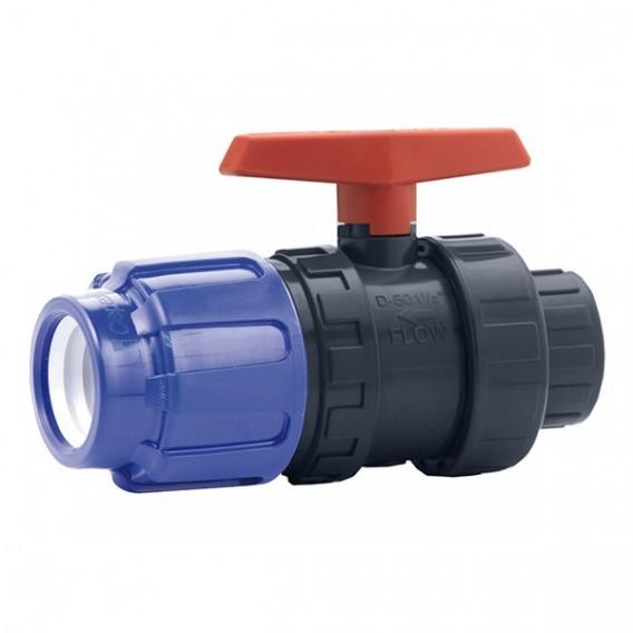 Válvula de bola Cepex PVC conexión PE x roscar