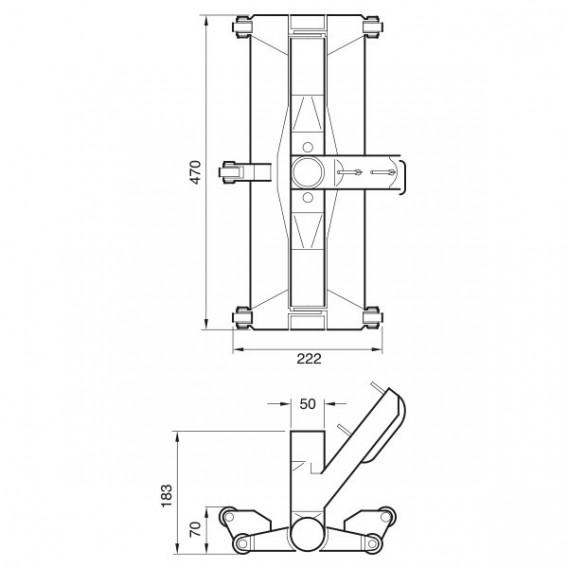 Dimensiones limpiafondos Certivac Fairlocks articulado