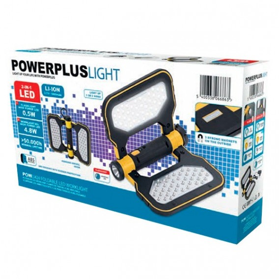 Lámpara de trabajo LED recargable plegable Powerplus POWLI424