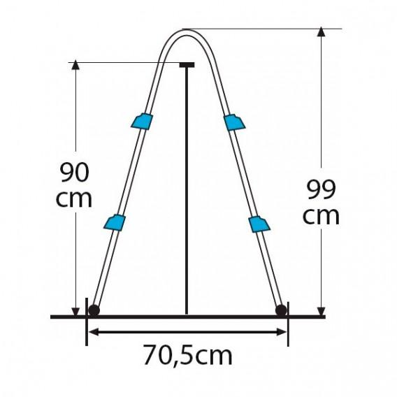 Dimensiones escalera Gre AR109
