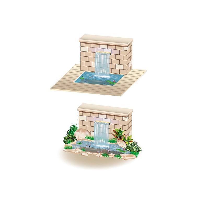 Cortina de agua led cascada estanque piscina heissner for Piscina estanque