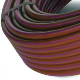 Tubería con gotero autocompensante integrado riego goteo marrón banda morada (100 m)