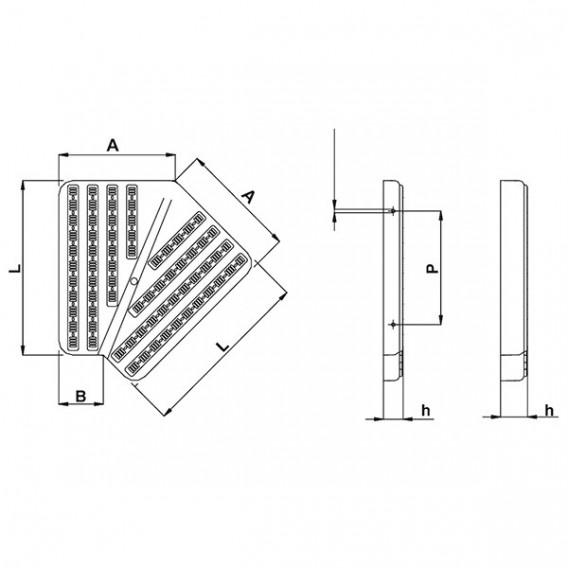 Placas para esquinas de canal rebosadero de 45° AstralPool