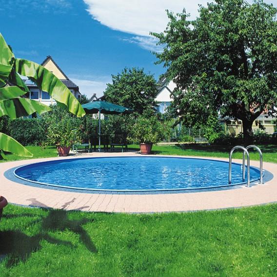 piscina enterrada gre sumatra circular en kit poolaria
