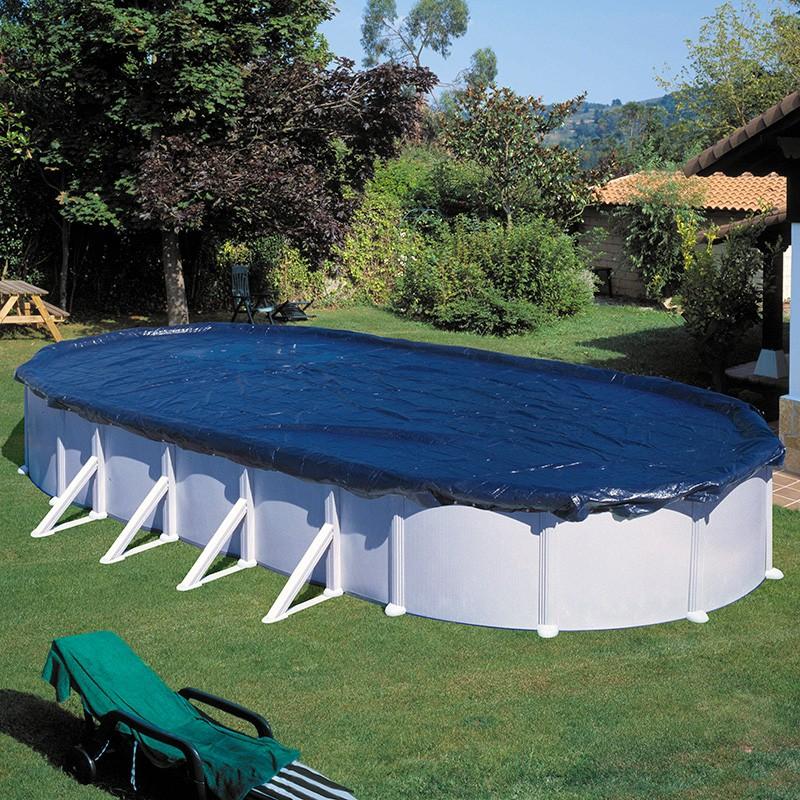 Cubierta de invierno para piscina gre ovalada poolaria for Cubierta piscina desmontable