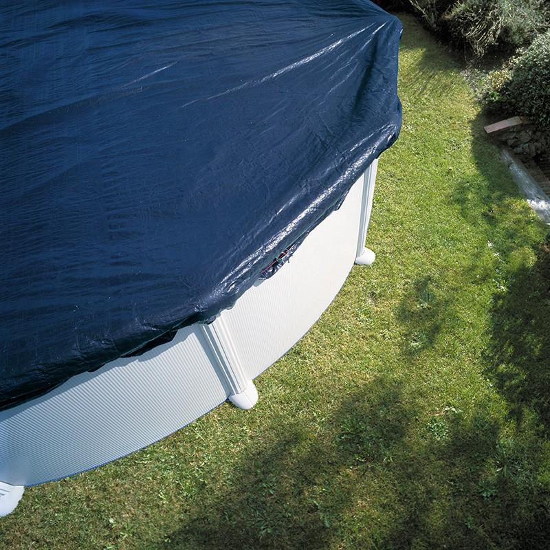 Cubierta de invierno para piscina gre ovalada poolaria for Piscinas de invierno