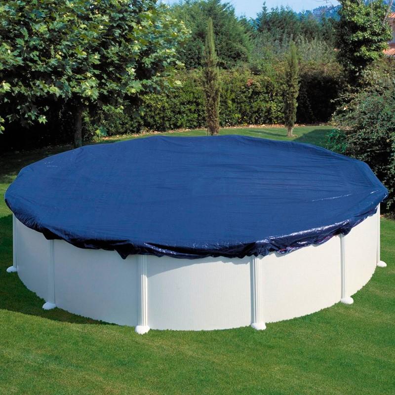 Cubierta de invierno para piscina gre redonda poolaria for Lona piscina redonda