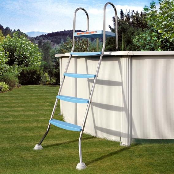 Escalera inox para piscina desmontable 142 cm Gre AR11680