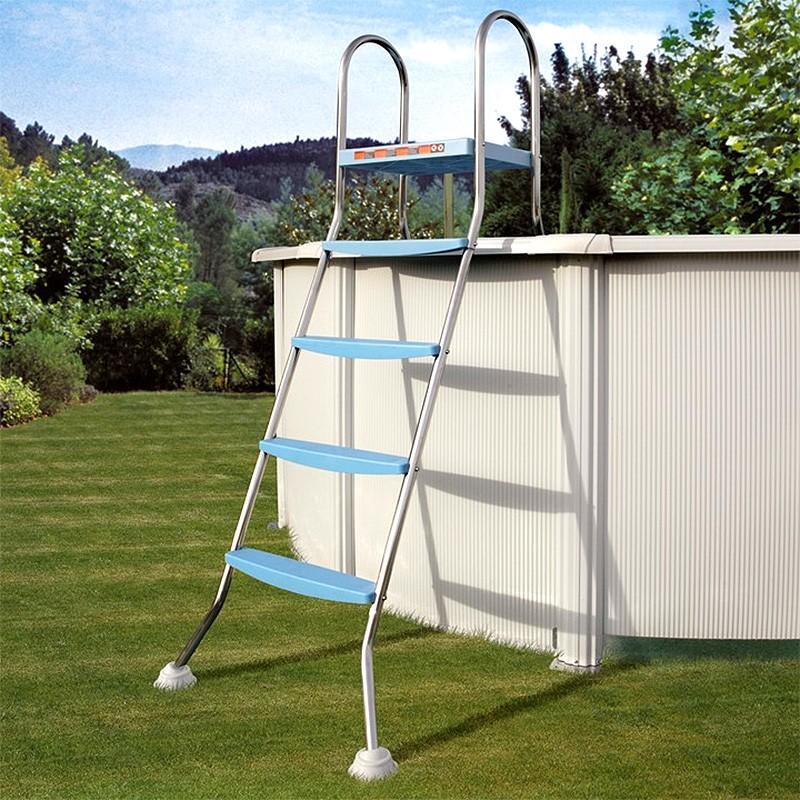 Escalera inox para piscina desmontable 142 cm gre ar11680 for Escalera piscina desmontable