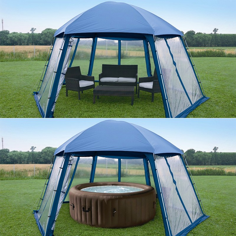 Toldo carpa para piscinas desmontables y spas poolaria for Piscines demontables