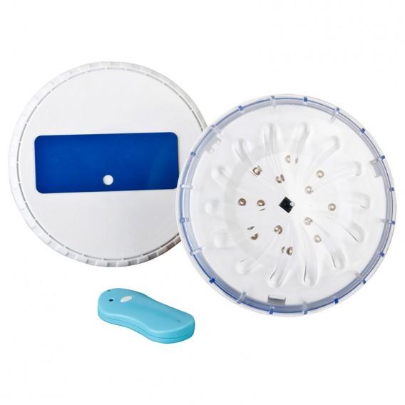 Conjunto focos proyectores LED piscina desmontable Gre con mando PLED2