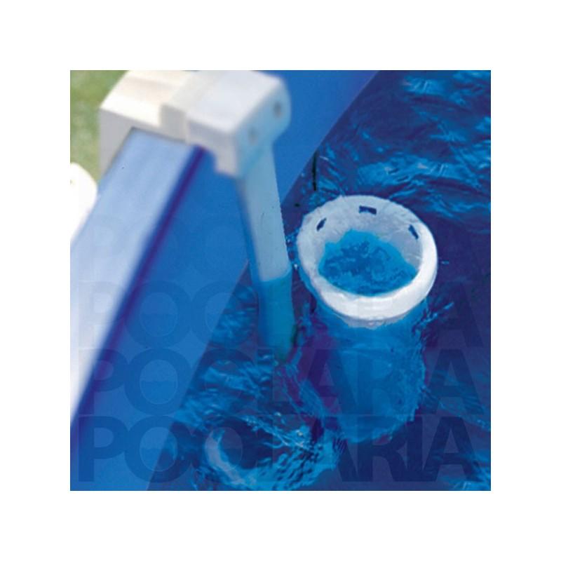 Piscina desmontable gre tenerife circular acero for Filtro piscina desmontable