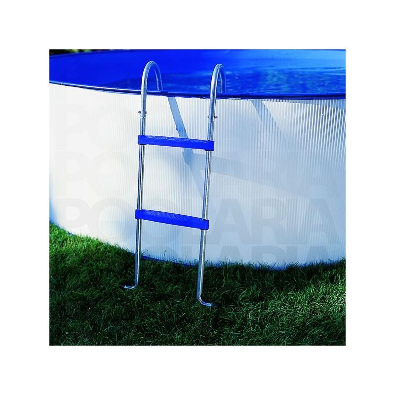 Piscina desmontable gre lanzarote circular acero chapa for Escalera piscina gre