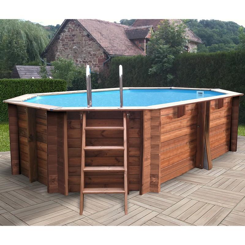 Piscina de madera gre sunbay ovalada 436x336x119 kwov436 - Piscinas desmontables de madera ...