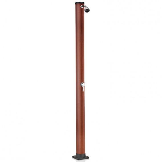 Ducha solar Gre 20 litros PVC aspecto madera AR1020W