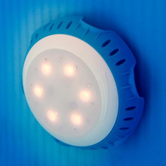 Foco proyector LED blanco válvula retorno piscina Gre LEDRW