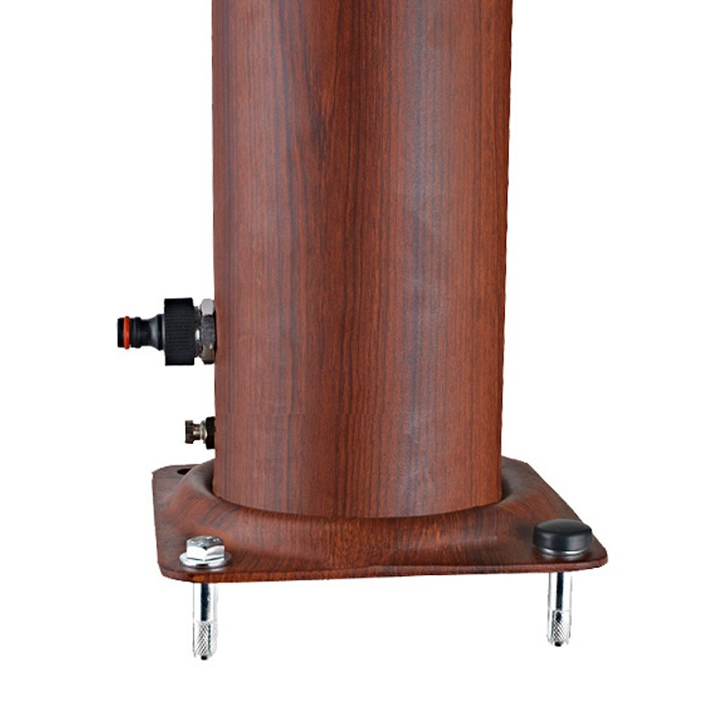 Ducha solar redonda aspecto madera 32 litros dsalr32w for Ducha madera