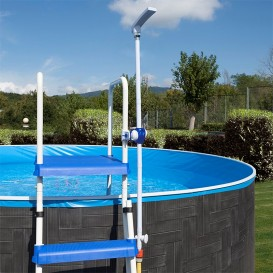 Accesorios piscinas elevadas poolaria for Escalera piscina desmontable