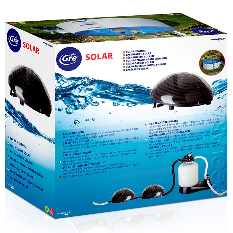 Calentador piscina solar semiesf rico gre 90230 poolaria - Calentador de agua para piscinas ...