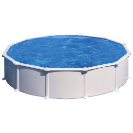 Piscina Gre Starpool circular acero blanca altura 132 cm