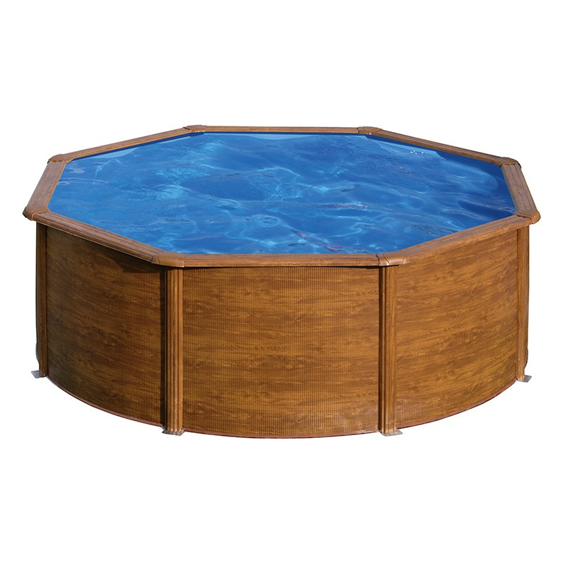 piscina gre starpool circular aspecto madera altura 120 cm poolaria. Black Bedroom Furniture Sets. Home Design Ideas