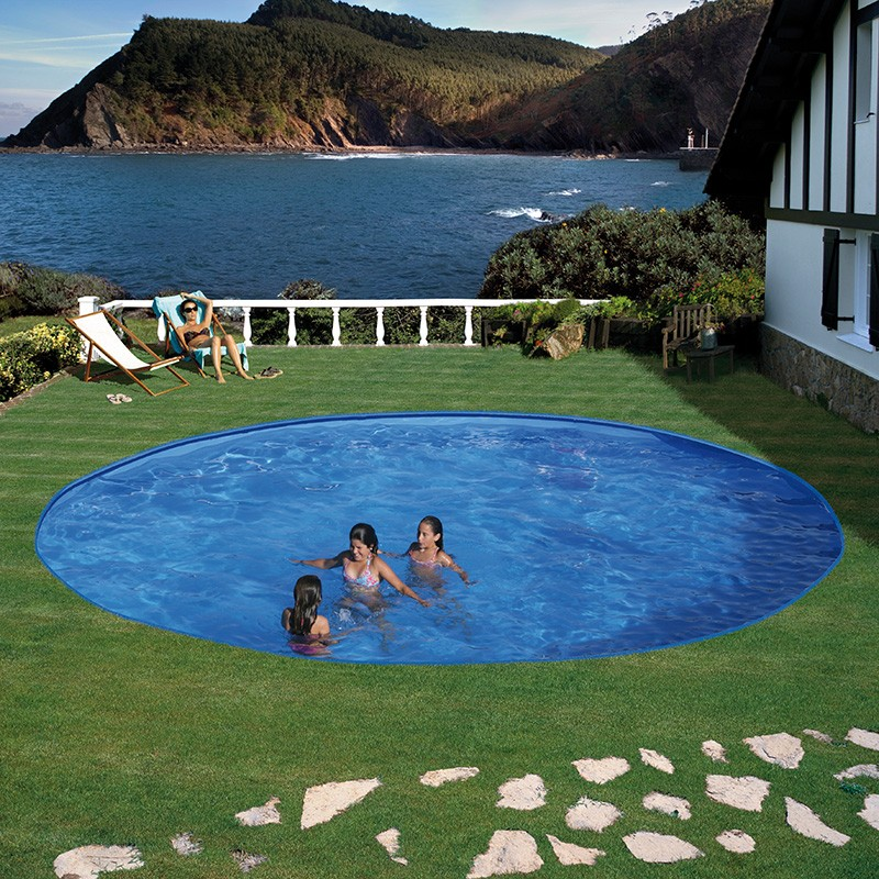 Piscina enterrada gre starpool circular altura 120 cm for Piscinas enterradas