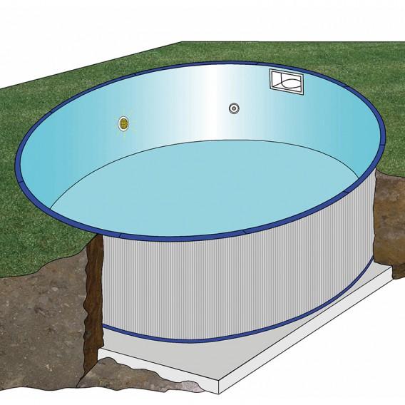 Esquema instalación piscina enterrada Gre Starpool redonda