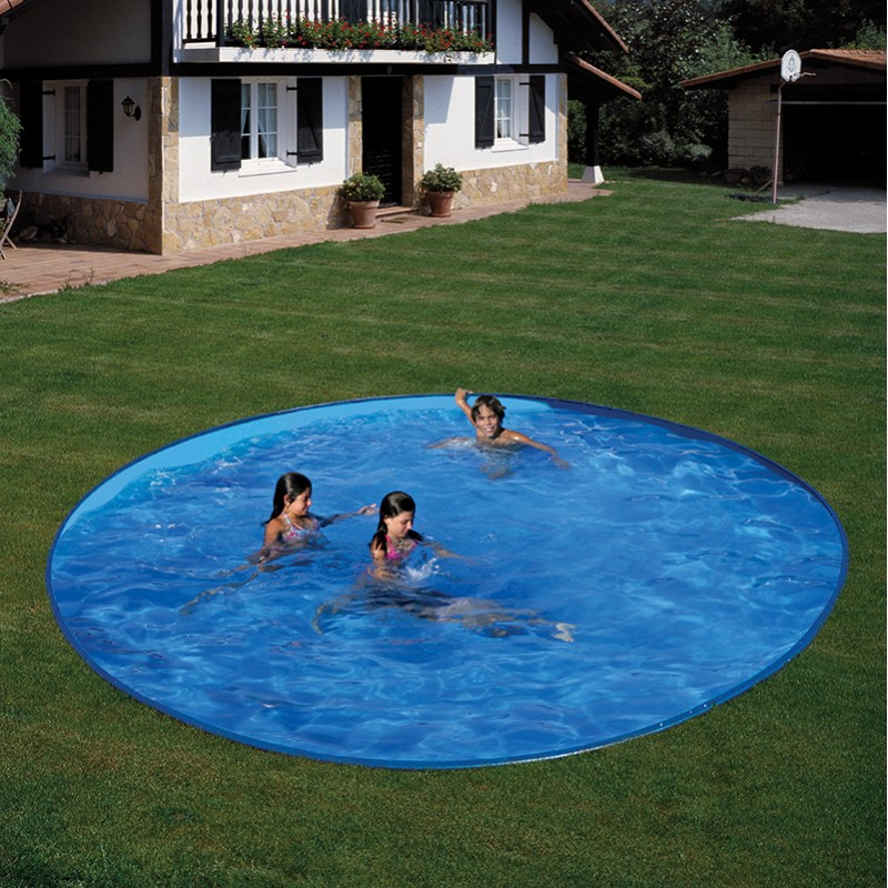 Piscina enterrada gre starpool circular altura 150 cm for Piscinas enterradas