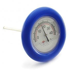 Termómetro piscina con flotador azul