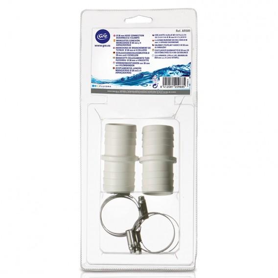 Kit conexi n mangueras 38 mm gre ar509 poolaria for Repuesto piscina gre