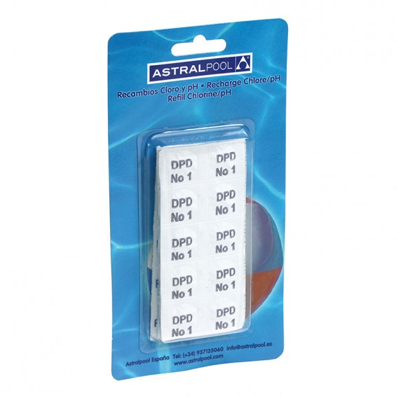 Reactivos DPD1 + pH en blister para Pooltester AstralPool