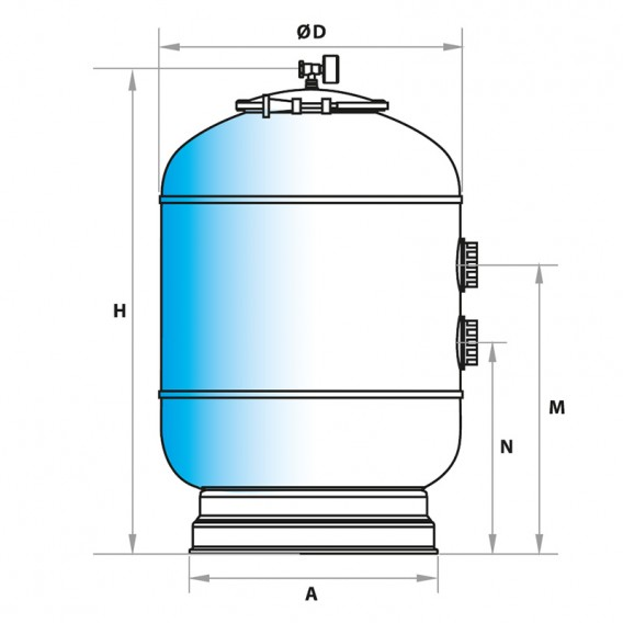Dimensiones filtro Skypool AstralPool