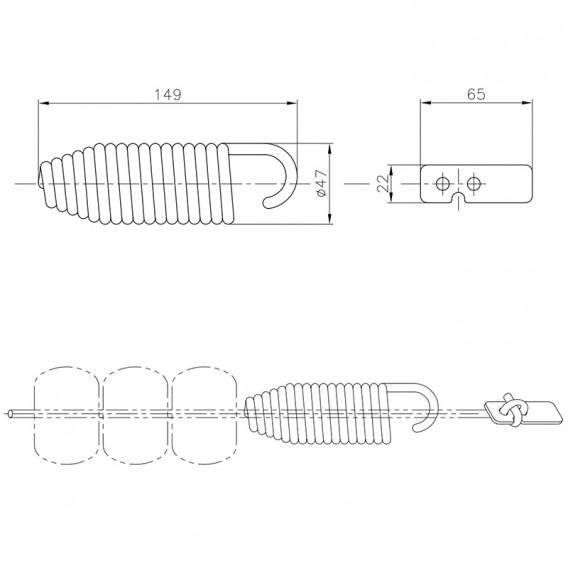 Dimensiones amortiguador corchera AstralPool