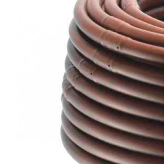 Tubería con gotero autocompensante integrado riego por goteo marrón