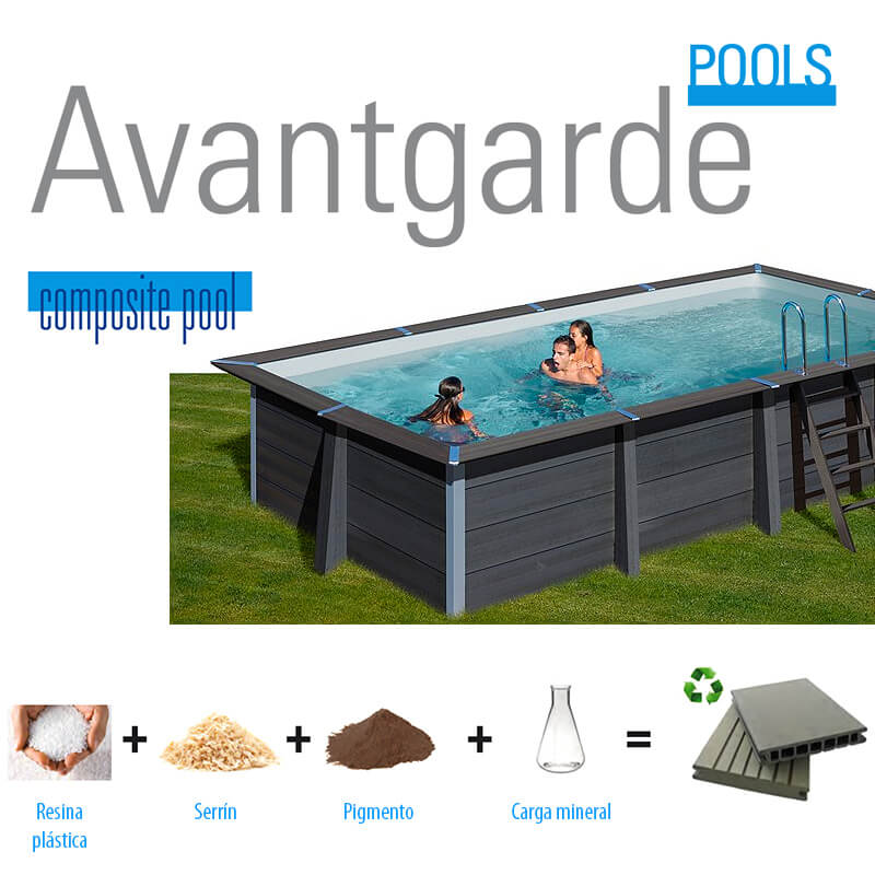 Piscina de composite Gre Avantgarde rectangular