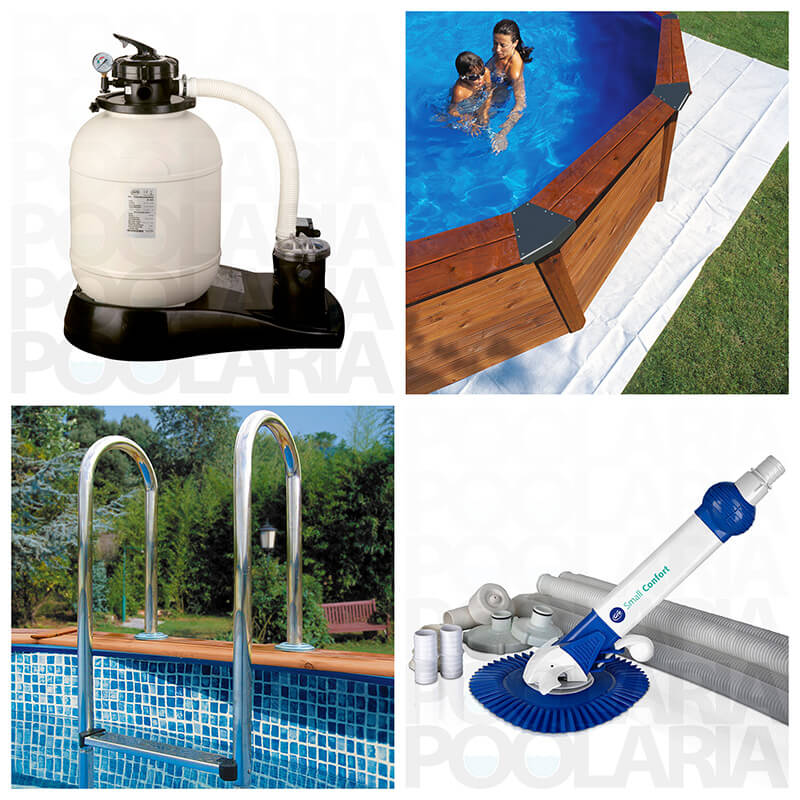 Equipamiento kit piscina Gre Hawaii
