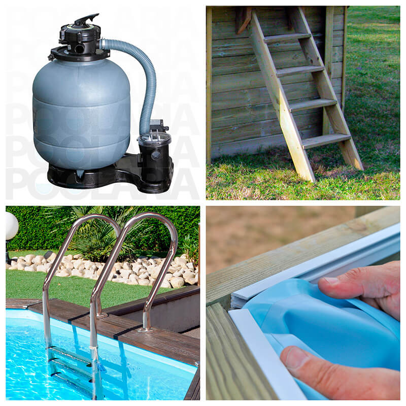 Equipamiento kit piscina Gre Violette