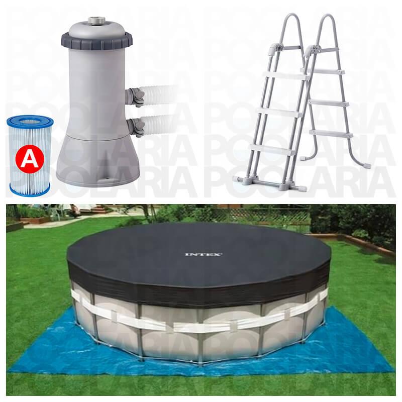 Piscina intex ultra frame 427x107 con depuradora 26310np for Accesorios piscinas intex