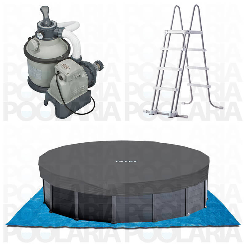 Equipamiento piscina Intex Graphite Panel 28382NP