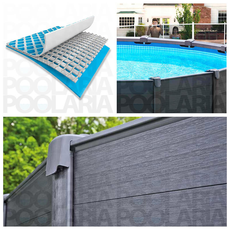 Detalles piscina Intex Graphite Panel
