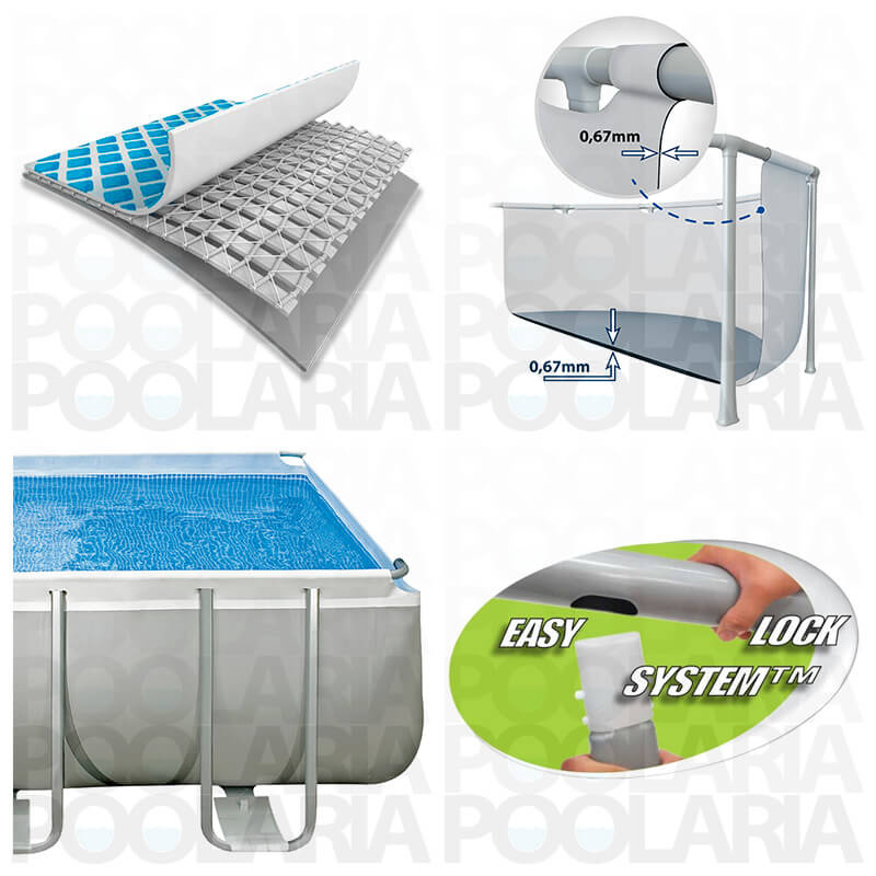 Detalles piscina Intex Ultra Frame rectangular