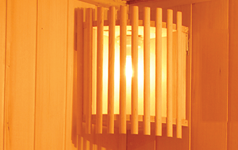 Iluminación sauna Zen