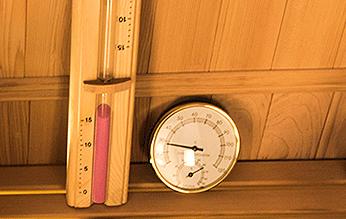 Termómetro y reloj sauna Zen